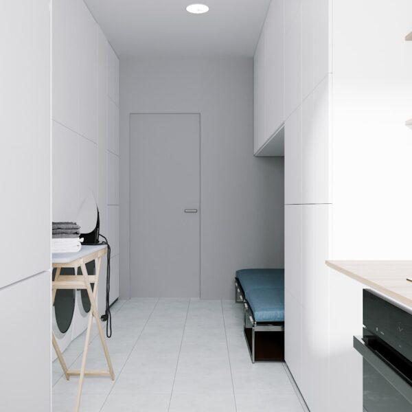 """Дизайн-проект готелю """"CITY LIFE"""", приміщення для персоналу вид ззаду"""