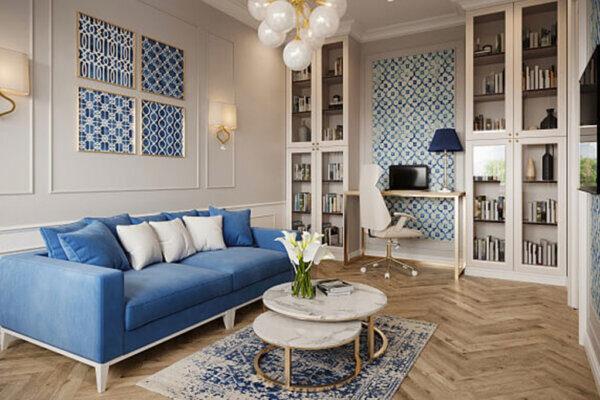 Дизайн інтер'єру двокімнатної квартири, вітальня фото 3