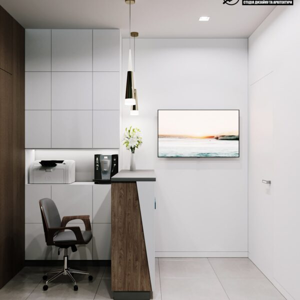 "Дизайн-проект готелю ""CITY LIFE"", ресепшен вид справа"