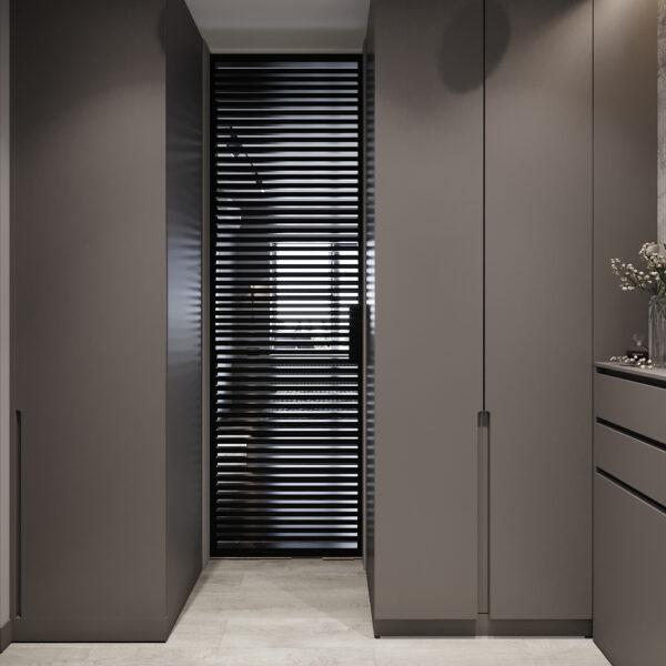 """Дизайн інтер'єру квартири ЖК """"Віденський дім"""", передпокій вид спереду"""