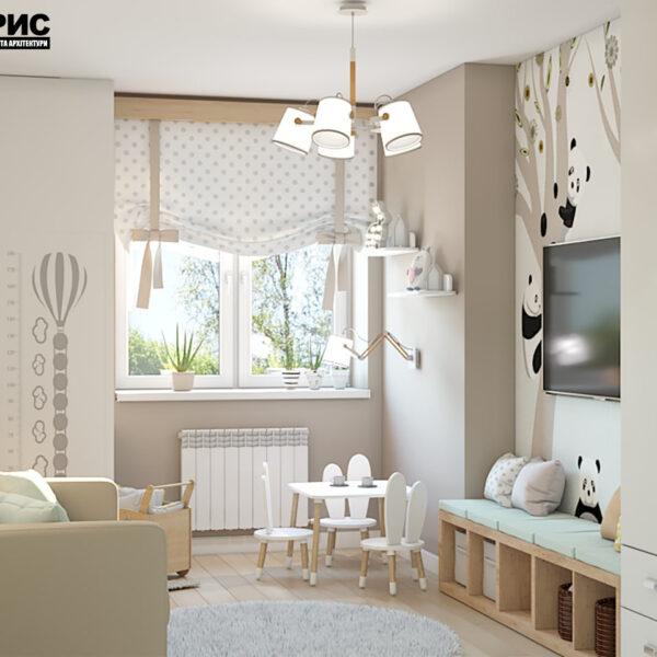 "Дизайн-проект двокімнатної квартири ЖК ""Пролісок"", дитяча кімната вид справа"