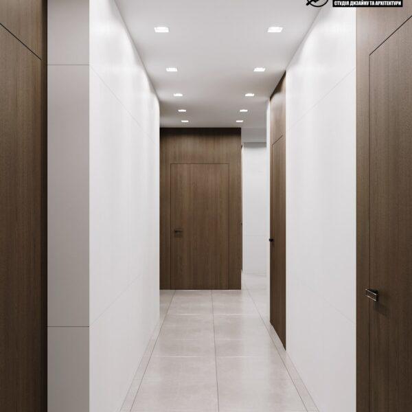 """Дизайн-проект готелю """"CITY LIFE"""", коридор"""