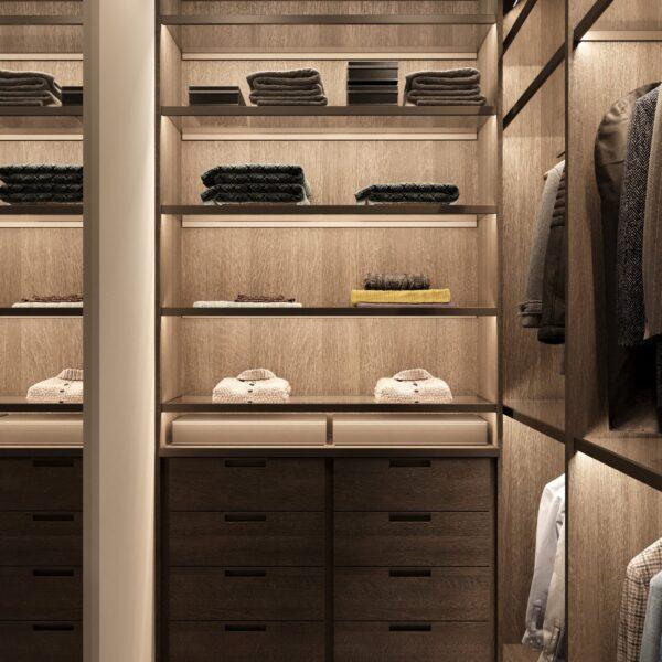 """Дизайн-проект однокімнатної квартири ЖК """"Інфініті"""", гардеробна вид спереду"""