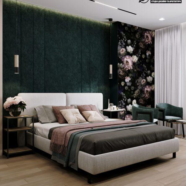 """Дизайн-проект гостиницы """"CITY LIFE"""", комната №1 вид сбоку"""