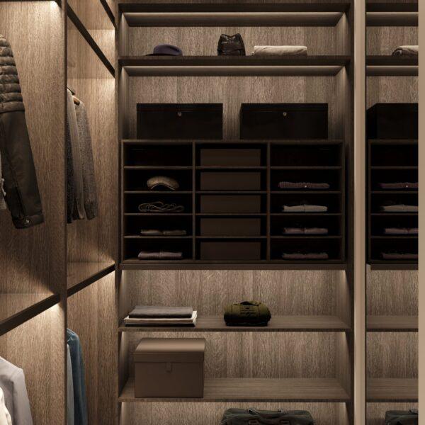 """Дизайн-проект однокомнатной квартиры ЖК """"Инфинити"""", гардеробная вид справа"""