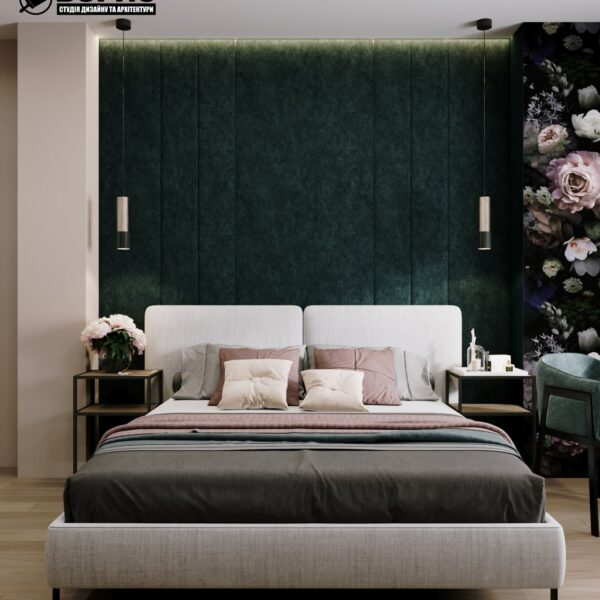 """Дизайн-проект готелю """"CITY LIFE"""", кімната №1 вид спереду"""