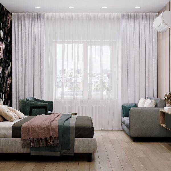 """Дизайн-проект готелю """"CITY LIFE"""", кімната №1 вид справа"""