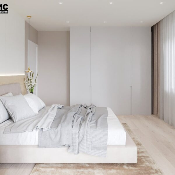 "Дизайн-проект двокімнатної квартири ЖК ""Левада"", спальня вид справа"