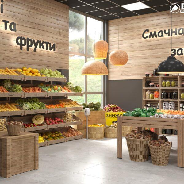 Дизайн інтер'єру овочевого магазину по вул. Героїв Праці, фото 8