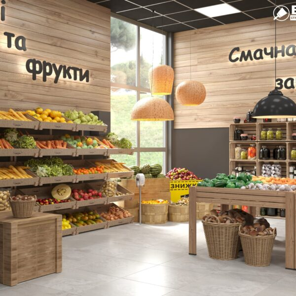 Дизайн интерьера овощного магазина по ул. Героев Труда, фото 8