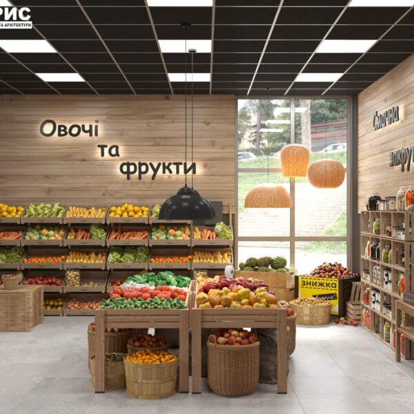 Дизайн інтер'єру овочевого магазину по вул. Героїв Праці, фото 7