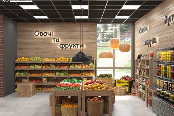 Дизайн интерьера овощного магазина по ул. Героев Труда, фото 7