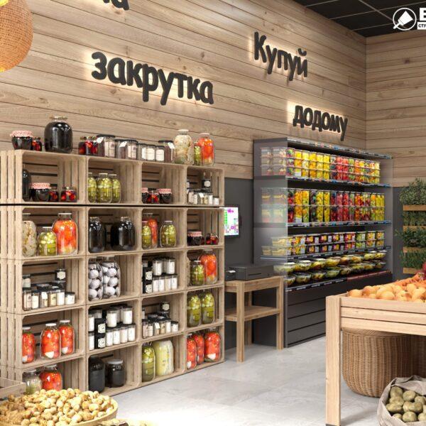 Дизайн интерьера овощного магазина по ул. Героев Труда, фото 6