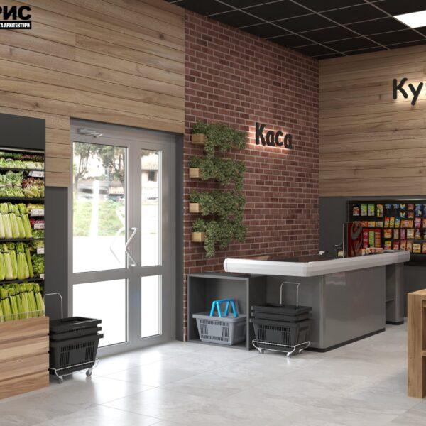 Дизайн интерьера овощного магазина по ул. Героев Труда, фото 5
