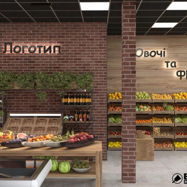 Дизайн интерьера овощного магазина по ул. Героев Труда, фото 4