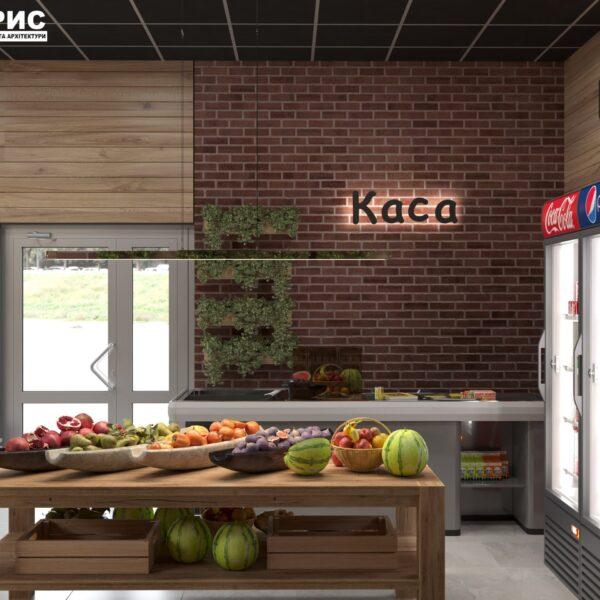 Дизайн интерьера овощного магазина по ул. Героев Труда, фото 2
