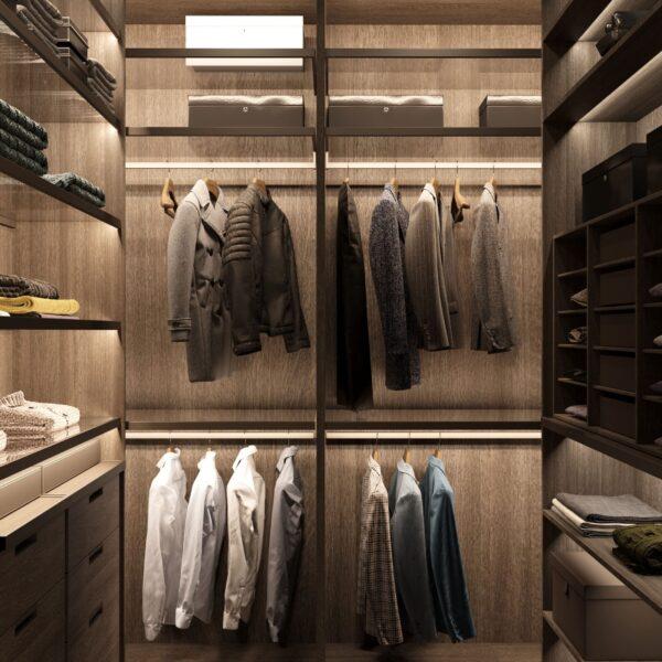 """Дизайн-проект однокімнатної квартири ЖК """"Інфініті"""", гардеробна вид зліва"""