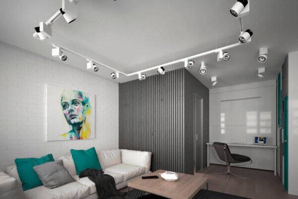 Дизайн интерьера квартиры в хрущёвке, гостиная