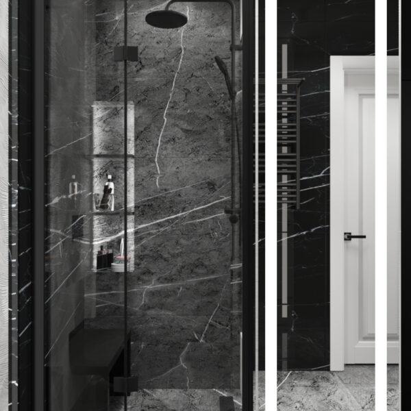 """Дизайн інтер'єру квартири ЖК """"Резиденція"""", санвузол душова кабінка"""