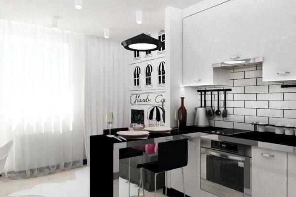 Дизайн интерьера квартиры студии, кухня