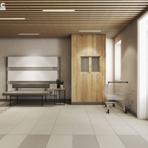 Дизайн інтер'єру холу житлового будинку по пр. Науки, хол вид справа