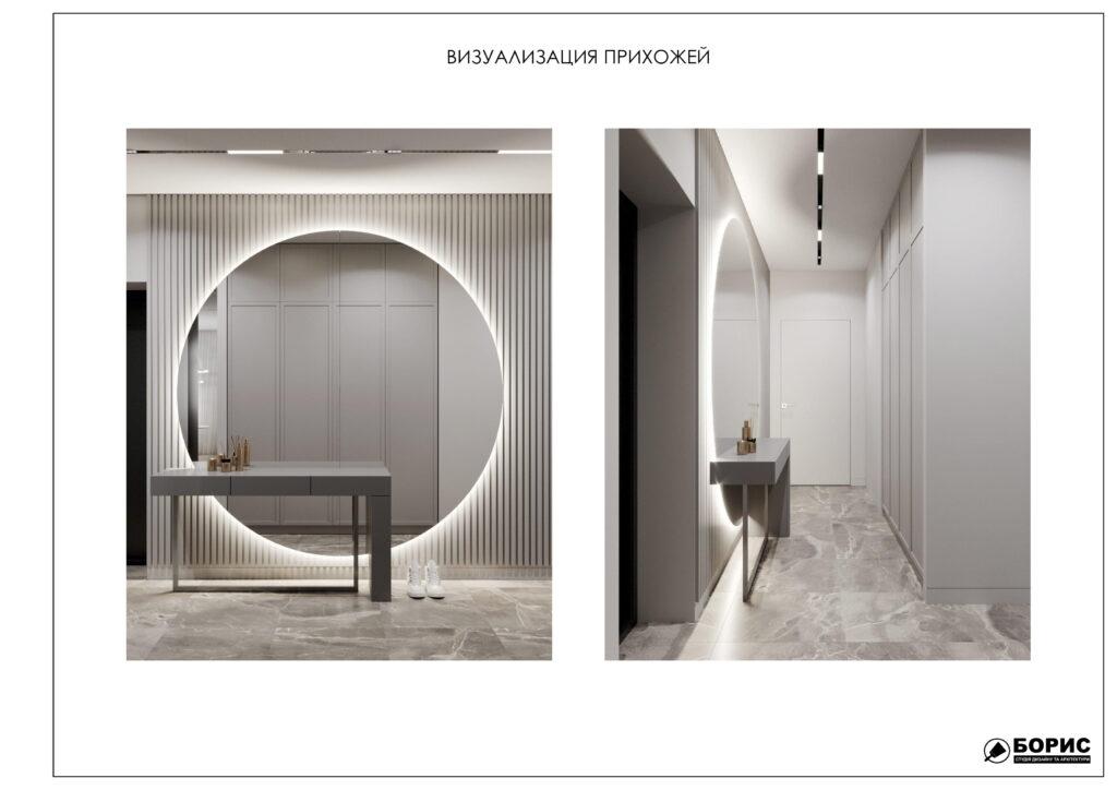 Состав дизайн-проекта интерьера, визуализация входной зоны