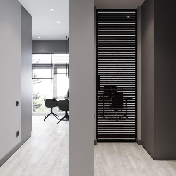 """Дизайн інтер'єру квартири ЖК """"Віденський дім"""", передпокій вид на кухню"""