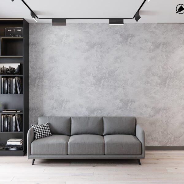 """Дизайн інтер'єру квартири ЖК """"Віденський дім"""", вітальня вид спереду"""