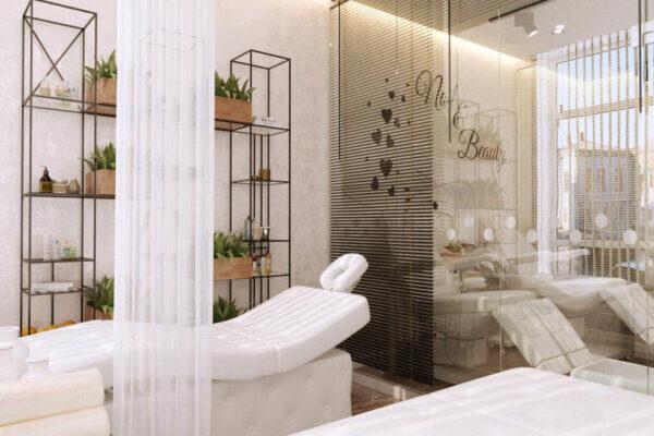 Дизайн интерьера салона красоты, спа-салон