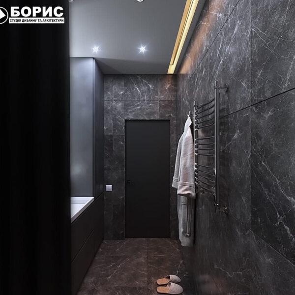 """Дизайн інтер'єру квартири ЖК """"Софія"""", санвузол"""