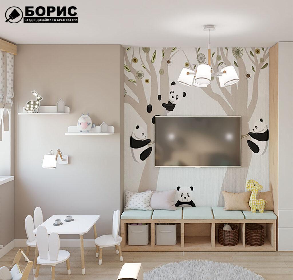 Дизайн інтер'єру в Борисполі. Дизайн дитячої кімнати.