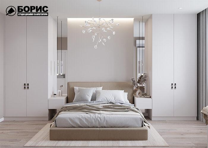 Дизайн інтер'єру двокімнатної квартири в Харкові, спальня