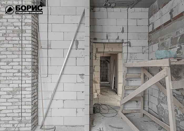 Ремонт трикімнатної квартири в Харкові, чорнові роботи