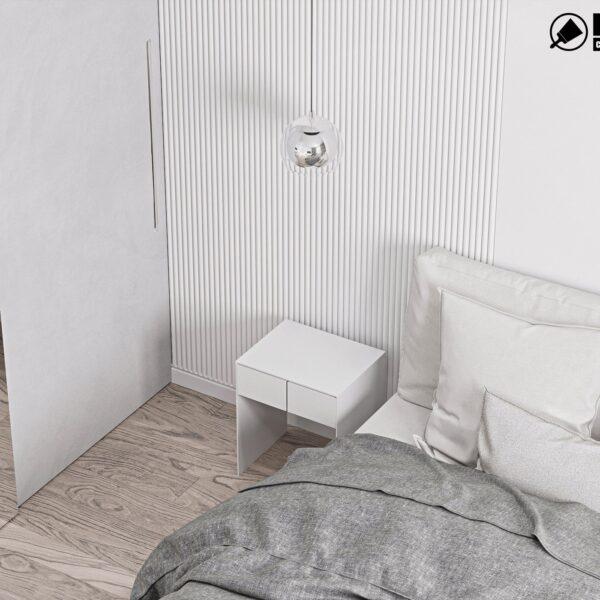 Дизайн інтер'єру двоповерхового будинку м. Вовчанськ, спальня №1 вид зліва