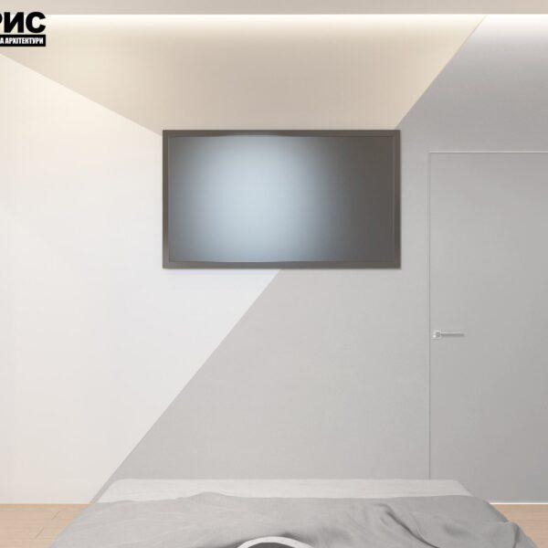 Дизайн интерьера двухэтажного дома г. Волчанск , спальня №3 вид сзади