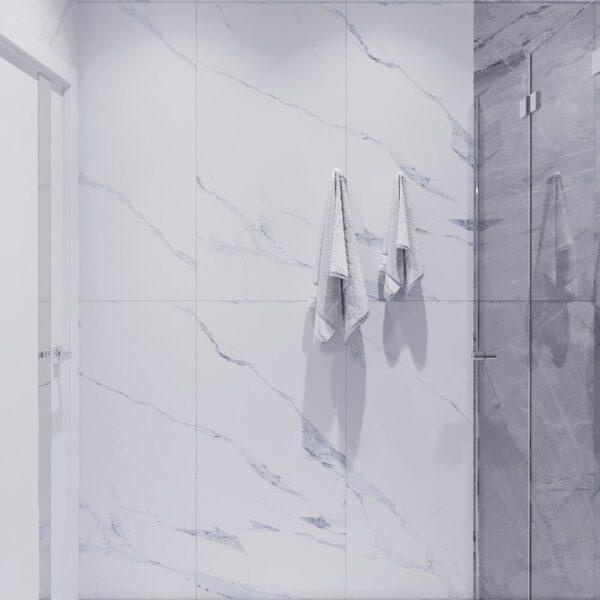 Дизайн інтер'єру двоповерхового будинку м. Вовчанськ, санвузол №1 вид зліва
