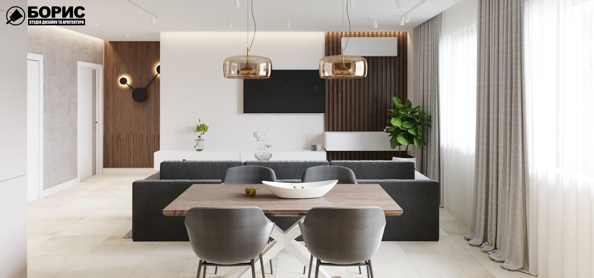 Что такое визуализация, гостиная кухня