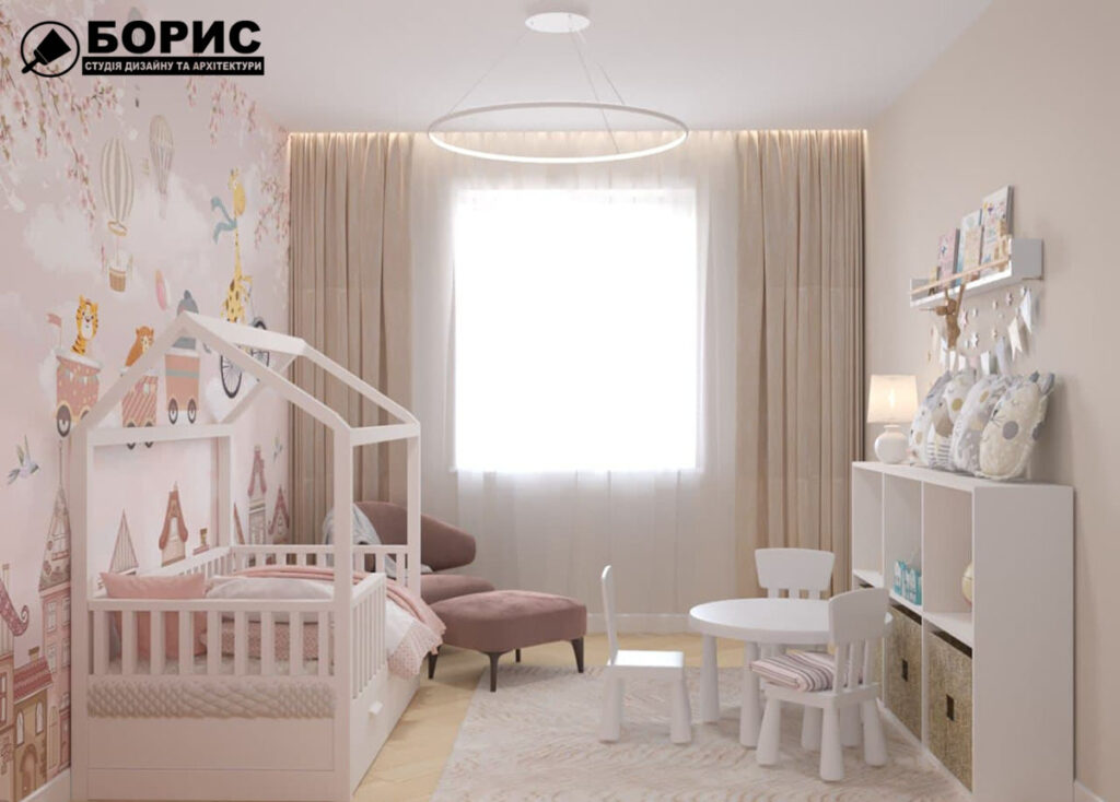 Дизайн інтер'єру в Броварах. Дизайн дитячої кімнати.