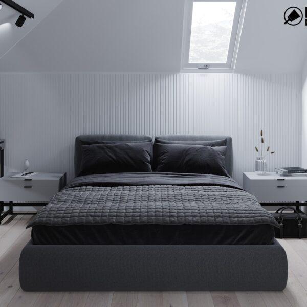 Дизайн интерьера двухэтажного дома г. Волчанск , спальня №2 вид спереди