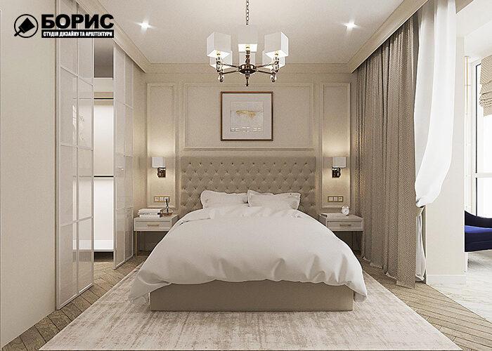 Дизайн 4 кімнатної квартири в Харкові, спальня