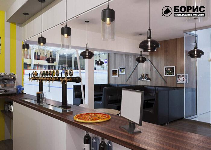 Дизайн интерьера коммерческого, торгового помещения в Харькове, пиццерия