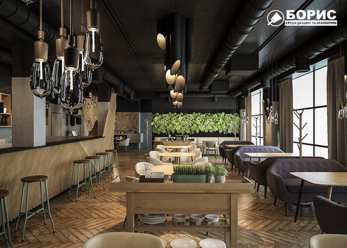 Дизайн интерьера ресторана в Харькове