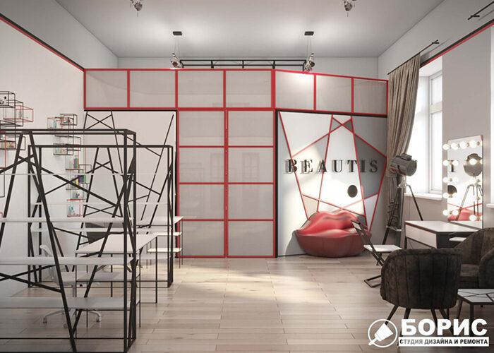 Дизайн интерьера салона красоты в Харькове, салон красоты