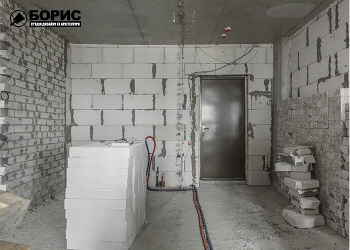 Ремонт квартири-студії в Харкові, ремонтні роботи