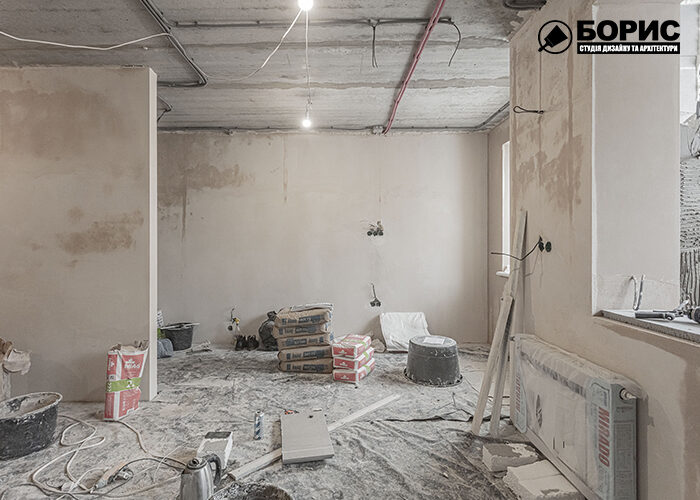 Ремонт однокомнатной квартиры в Харькове, гостиная