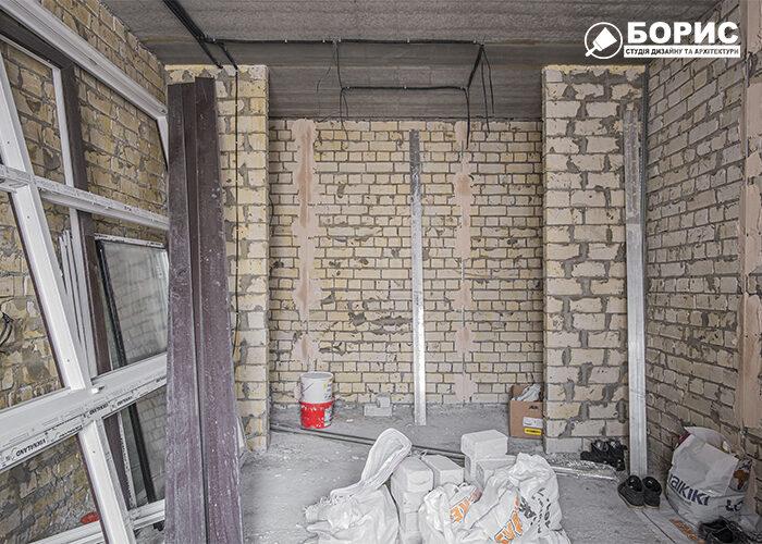 Ремонт двокімнатної квартири в Харкові, чорнові роботи