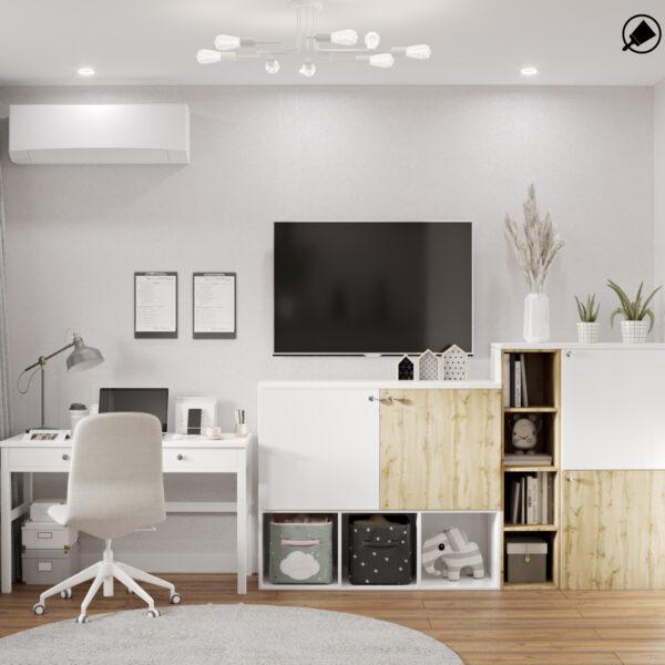 """Дизайн интерьера квартиры ЖК """"Мира"""", гостевая спальня вид сзади"""