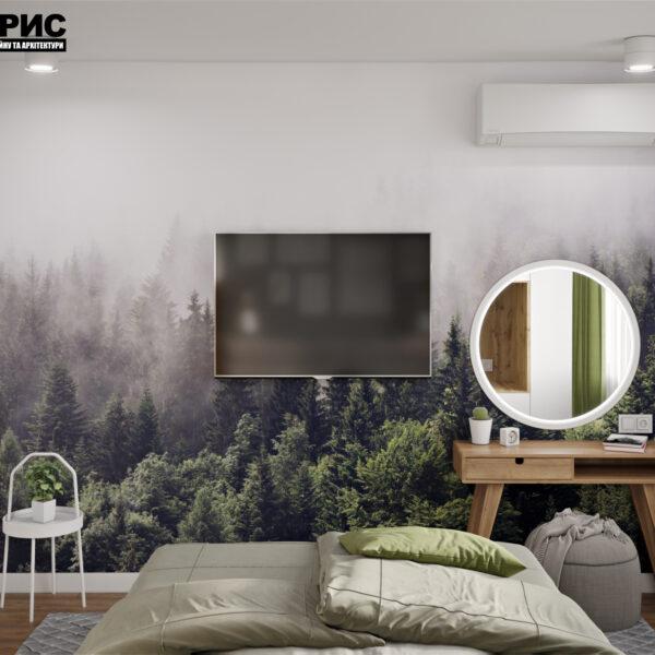 """Дизайн интерьера квартиры ЖК """"Мира"""", спальня вид сзади"""