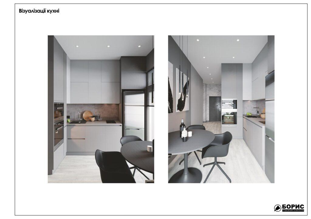 Склад дизайн-проекту інтер'єру в Харкові, кухня
