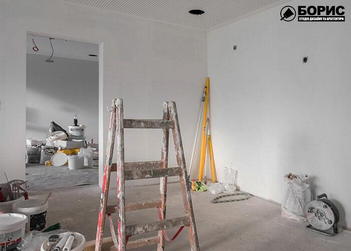 Ремонт под ключ в процессе в небольшой квартире в Борисполе.